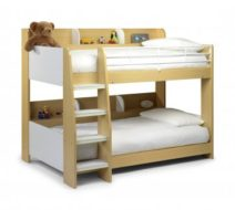 Domino Bunk Bed Maple & White