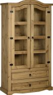 Dark Corona 2 Door Glass Display Unit