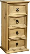 Dark Corona 4 Drawer CD Chest