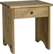 Dark Corona Dressing Table Stool Distressed Waxed Pine