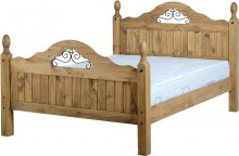 Dark Corona Scroll 4'6″ Bed High Foot End