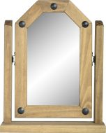 Dark Corona Single Swivel Mirror Distressed Waxed Pine