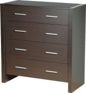 Denver 4 Drawer Chest Expresso Brown
