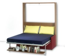 Dile Wall-Bed with Sofa & Shelf