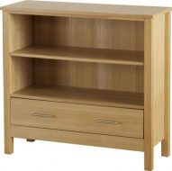 Oakleigh 1 Drawer Bookcase (Low)