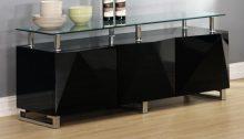 Rowley Black or White  High Gloss Sideboard 3 Doors