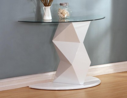 Rowley Black or White High Gloss Console Table
