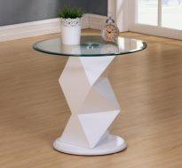 RowleyLamp Table Black or White. High Gloss