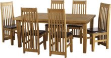 Tortilla 6′ Dining Set + 6