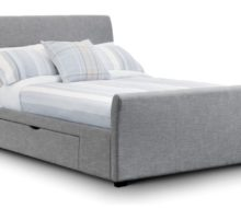 Capri Fabric Bed with 2 Drawers (King)