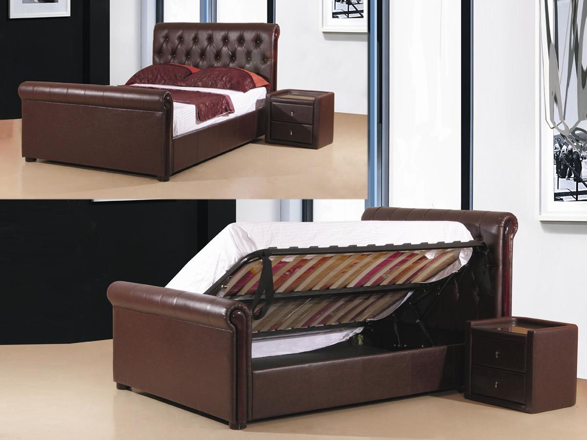 Caxton Storage Bed – PU