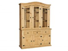LIGHT CORONA BUFFET 3 DOOR HUTCH 3+3 SET