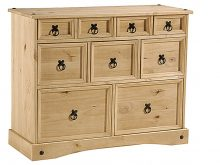 Light Corona Merchant Chest 9 Drawer