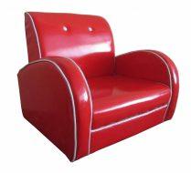 Dallas Kids Sofa PU Red