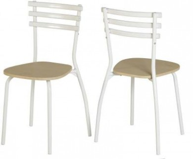 Langley Chair in Beech/White