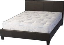 Prado 5′ Bed in Expresso Brown or black PU