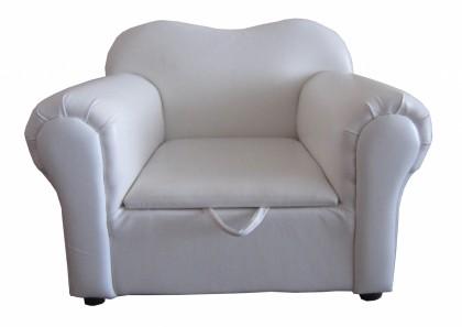 Isabella Kids Sofa PU White