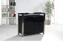 Malvern Black Cabinet 3 Door