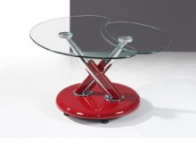 Torre Coffee Table – Chrome and Red