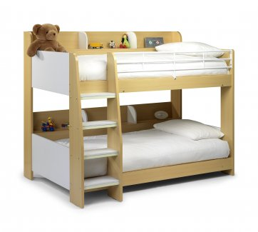 Domino Bunk Bed Maple & White