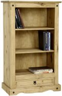 Dark Corona 1 Drawer Low Bookcase