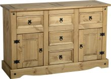 Dark Corona 2 Door 5 Drawer Sideboard
