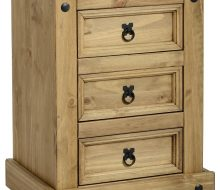 Dark Corona 3 Drawer Bedside Chest