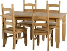 Dark Corona 5′ Dining Set