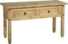 Dark Corona Console Table with 2 Drawers