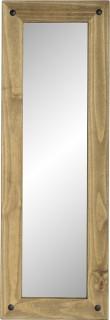 Dark Corona Long Wall Mirror Distressed Waxed Pine