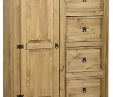 Dark Corona 1 Door 4 Drawer Low Wardrobe