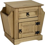Dark Corona 1 Drawer Magazine Table