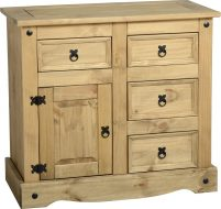 Dark Corona 1 Door 4 Drawer Sideboard