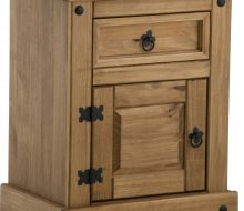 Dark Corona 1 Drawer 1 Door Bedside Cabinet