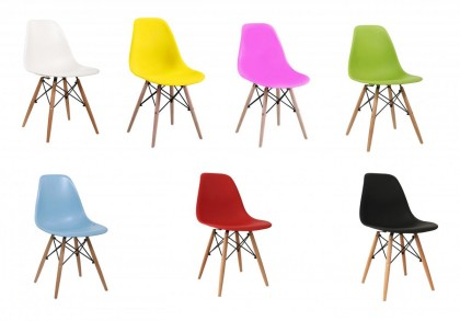 Lilly Kids Plastic (PP) Chairs with Solid Beech Legs
