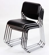 Orkney Stackable Dining Chairs – Black or cream