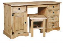 Light Corona Dressing Table 1 Door & 5 Drawer & Stool