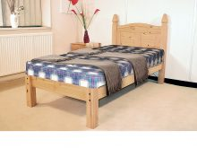 Light Corona Bed Low Foot End