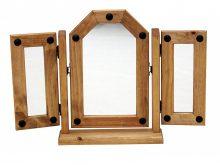 Light Corona Triple Vanity  Mirror