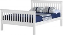 Monaco 5′ Bed High Foot End in White
