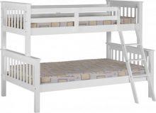 Neptune Triple Sleeper Bunk Bed in White or Oak