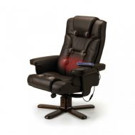 Malmo Massage and Reclining Swivel Chair and Stool