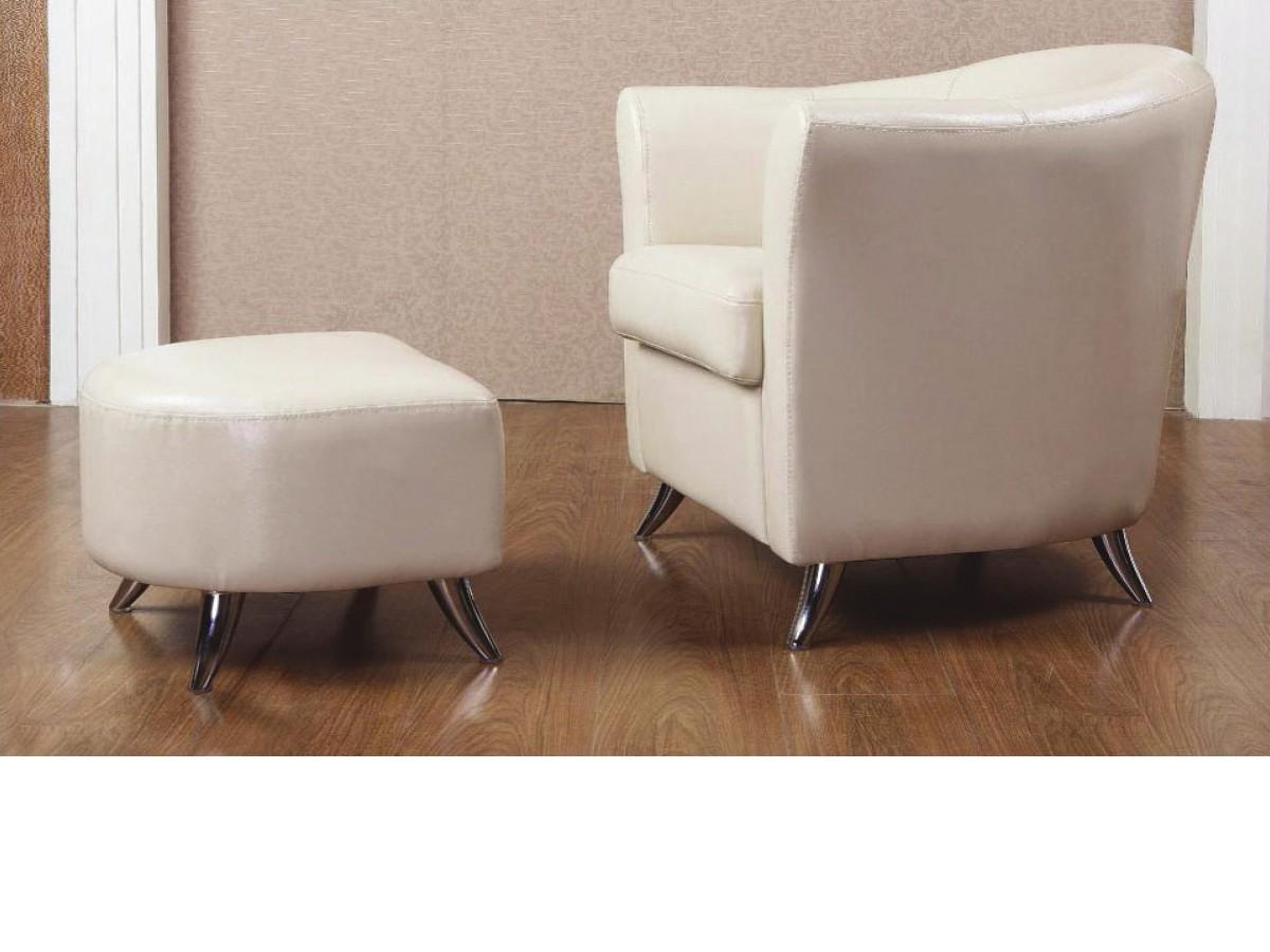 Teramo Footstool Leather and PU